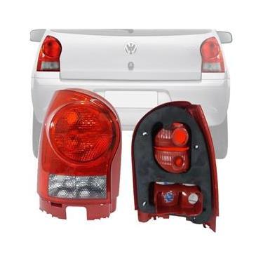 Lanterna Traseira Volkswagen Gol G4 06 07 08 09 10 11 2012 2013 2014 Borda Vermelha Ré Fumê Esquerdo