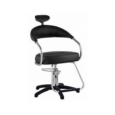 Cadeira Futura Hidráulica Para Salão Cabeleireiro, Preta - Dompel