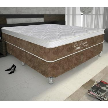 a6fc27ab9 Conjunto Box King Size Las Vegas Gazin - Suede Bege