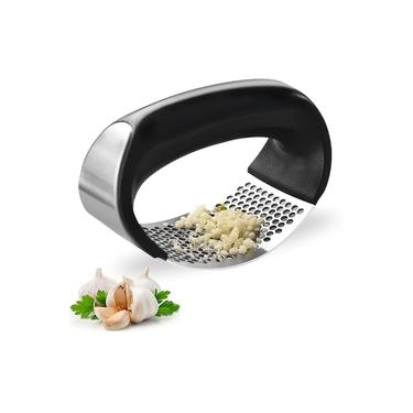 Imagem de Espremedor Amassador Triturador de Alho Inox Manual Cozinha