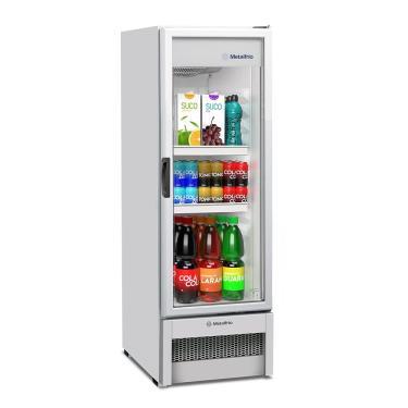Expositor/Refrigerador Vertical Metalfrio 276 Litros VB25, Porta de Vidro, Branco