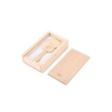 U Disk, Wooden Guitar Shape Flash Drives Storage USB 2.0 U Disk Memory Stick For PC,Compatible with USB1.1