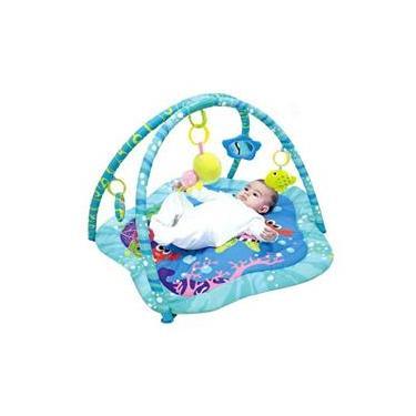 Imagem de Tapete Infantil Azul Bichos Do Mar Mastela