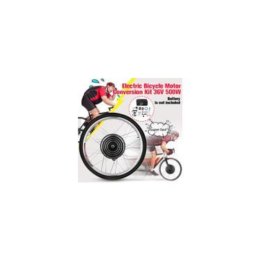 Imagem de 26 \ Bicicleta Elétrica E-Bike Frente Traseira Roda Conversão Kit Ciclismo Motor 500 W