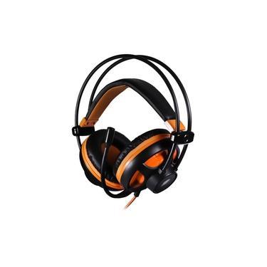 Imagem de Headset Fone Gamer Oex Argos 7.1 com Microfone Multiplataforma Preto e Laranja - HS417