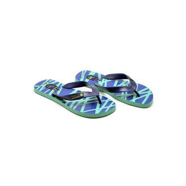 Chinelo Masculino Polo Culture Silk 1 Verde com Azul