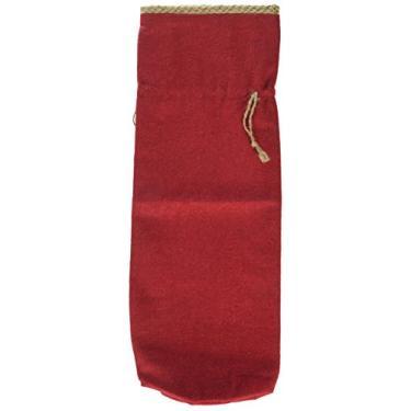 Imagem de Bolsa de vinho em tecido Co-Op criativo, cinza e vermelho