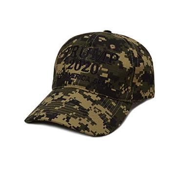 Boné de beisebol masculino e feminino Bestgift de algodão respirável EUA MAGA, Camouflage 3, tamanho �nico