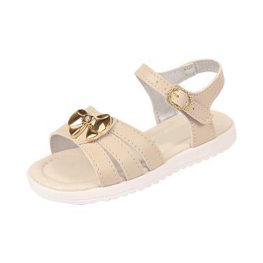 Sandália Infantil Raniel Calçados com Laço ABS Marfim  menina