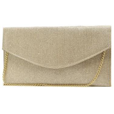Bolsa de Festa Hendy Bag Envelope Glitter Dourado  feminino