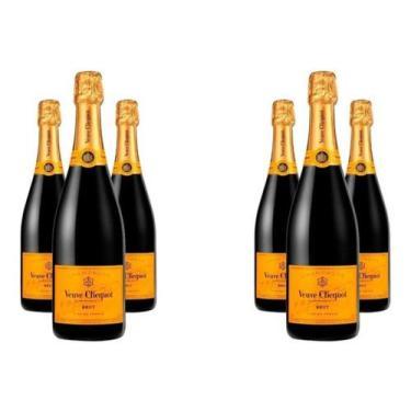 Champagne Veuve Clicquot Brut 750ml Caixa com 6 Garrafas