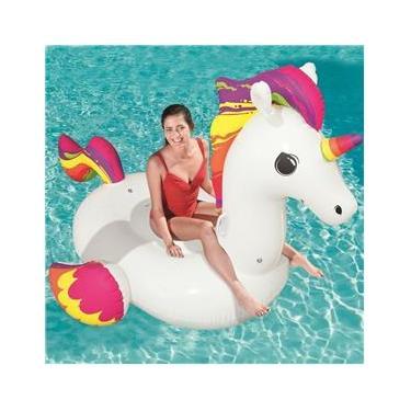 Boia Inflável Divertida Unicornio Gigante 2,24m x 1,64m 41113