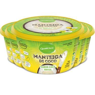 Kit 5 Manteiga de Coco Natural Qualicôco 200g