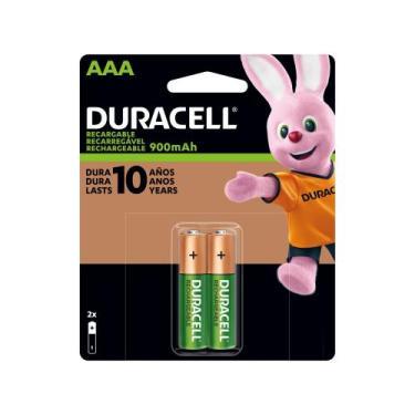 Pilha Recarregável AAA Alcalina 2 Unidades - Duracell