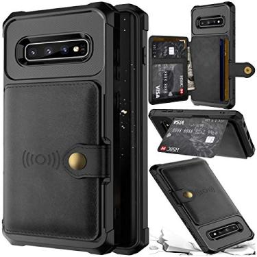 Capa Case Flip Carteira Couro Samsung Galaxy S10e Lite Classica Vintage Premium