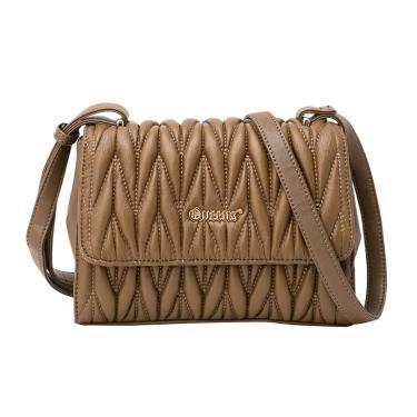 b676d2f56 Bolsa Feminina com Alça Tiracolo Costura Cruzada 22cm x 17cm x 8cm Marrom -  Queens