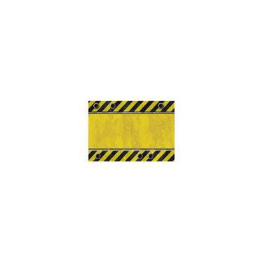 Imagem de Toalha de mesa zebra Crossing à prova d'água colorida com impressão colorida amarela-preta 137 * 183