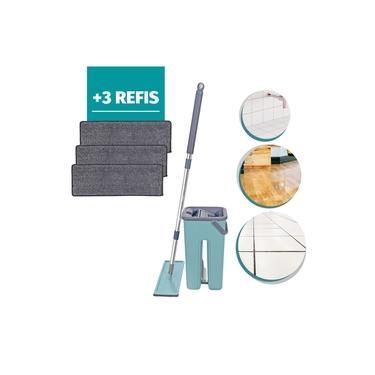 Flat Mop Rodo mágico Esfregão Multiuso Limpa piso + 3 Refil