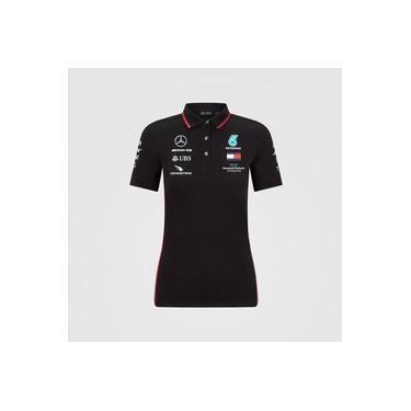 Camisa Polo Oficial Equipe F1 2020 Feminina AMG Petronas Mercedes-Benz Preto