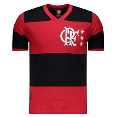 Camisa Flamengo Braziline Lib Rubro Negra Masculino
