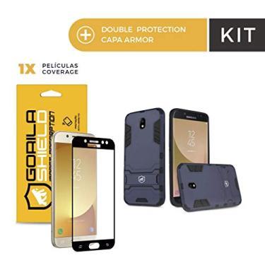 ac57c2b3010 Kit Capa Armor e Película Coverage Color Preta para Galaxy J7 Pro - Gorila  Shield