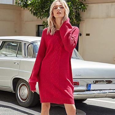Vestido feminino de inverno vintage tricotado moletom elegante gola O manga longa casual mini vestido de festa preto/rosa