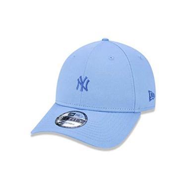 Imagem de BONE 9FORTY MLB NEW YORK YANKEES MINI LOGO NY ABA CURVA SNAPBACK AZUL CLARO New Era