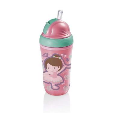 Copo Térmico Com Canudo De Silicone Cool Rosa 24M+ Multikids Baby - BB035 - Padrão
