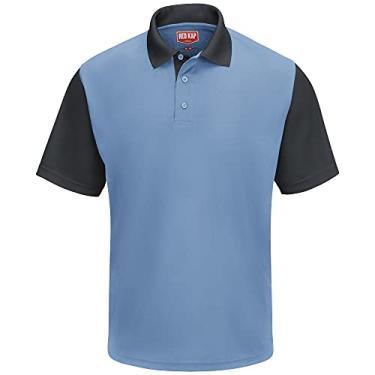 Imagem de Camisa polo Red Kap Performance SK56, Medium Blue / Charcoal, S