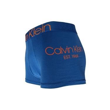 Cueca Boxer Trunk Evolution Cotton Calvin Klein - TRE2014 - Azul
