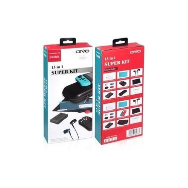 Kit 13 Em 1 Acessórios Nintendo Switch Case Pelicula E Mais