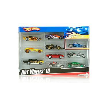 Imagem de Hot Wheels Pacote de 10 Carros Sortidos - ref.54886 - Mattel
