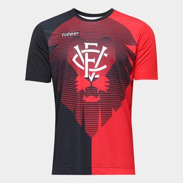 Camisa Vitória Aquecimento Torcedor Topper Masculina - Masculino 0e33b64e902b8