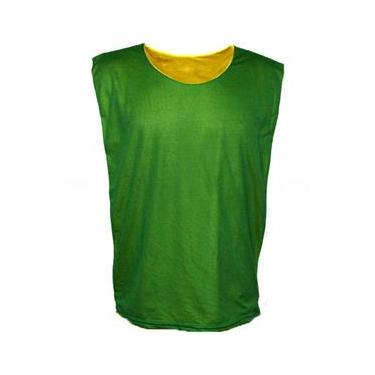 Colete Dupla Face - Tamanho G Adulto - Colete Verde x Amarelo - Tamanho G