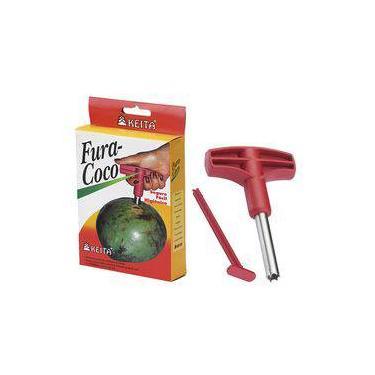 Fura Coco - Abridor Furador Perfurador Fura Coco Pratico