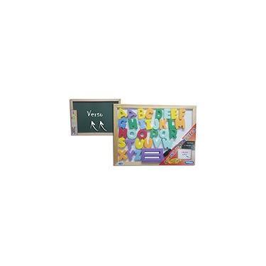 Imagem de Quadro magnético ABC 40x30 verde/branco + acessórios 7207 Cortiarte PT 1 UN
