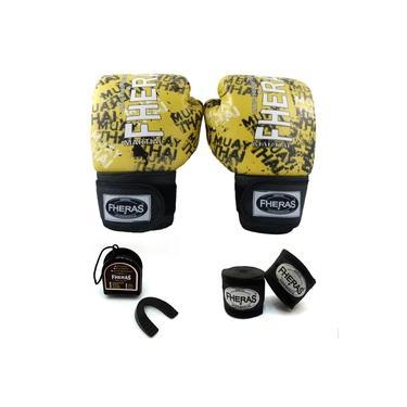 Kit Boxe Muay Thai Fheras Top Grafite (03000210)