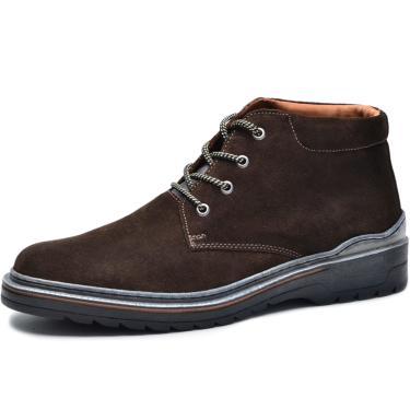 Bota Worker Over Boots Couro Camurça Marrom Urban  masculino