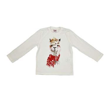 Camiseta Infantil/Kids Em Meia Malha Penteada Com Estampa Frontal - Beaba Cru