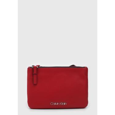 Bolsa Calvin Klein Logo Vermelha Calvin Klein K60K605074 feminino