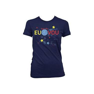 Camiseta Rock in Rio - Rock Stars Azul Marinho Feminina 2f3cce260ee