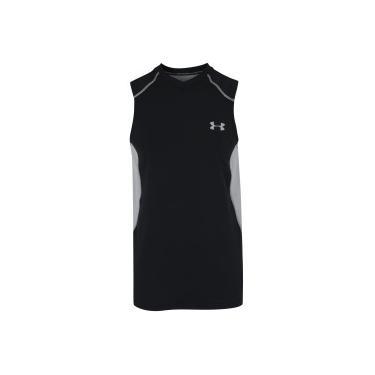 b4e00d98d8 Camiseta Regata Under Armour UA Raid - Masculina - PRETO CINZA Under Armour