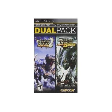 JOGO DUAL PACK monster hunter 2 freedom + monster hunter unite PSP