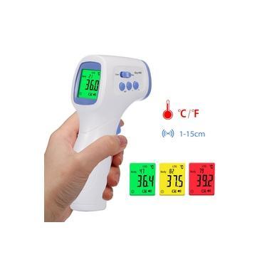 Termômetro infravermelho digital Medidor de temperatura Objeto Dispositivo de medição de temperatura sem contato 4 Modos de configuração 99 memórias ¿ e ¿ comutável