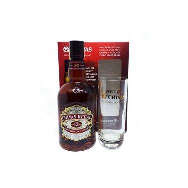 Kit Whisky Chivas 12 Anos 750ml com 1 Copo Long Drink