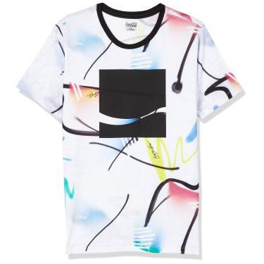 Camiseta Estampada, Coca-Cola Jeans, Masculino, Branco/Cinza/Azul/Verde/Amarelo/Rosa/Preto, G