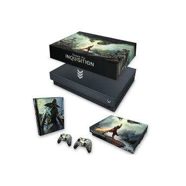Capa Anti Poeira e Skin para Xbox One X - Dragon Age Inquisition