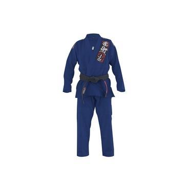 Kimono Jiu Jitsu Naja Choke Azul Marinho