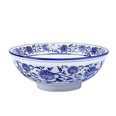 Imagem de HEMOTON Tigelas de Sopa Saladeira Tigela de Cerâmica Ramen Bowls Vintage Japonês Chinês Tigela Tigela de Macarrão Tigela de Sopa Noddles Macarrão Pho Soba Udon