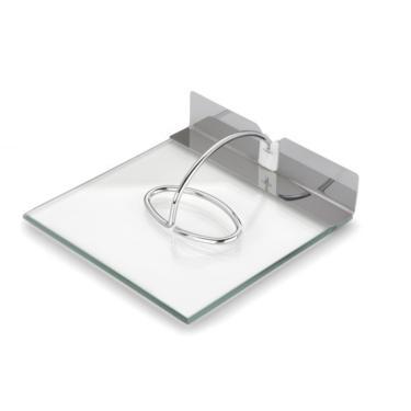 Imagem de Porta Guardanapos 18X18 Cm Design Inovador Vidro Inox
